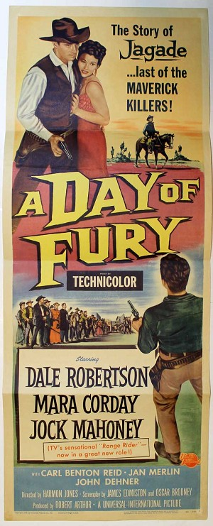 Day of Fury, 1956, Original Insert, (14x36