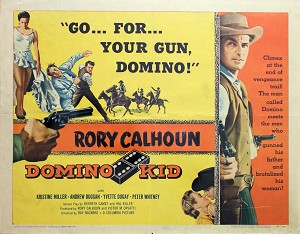 Domino Kid, 1957, Rory Calhoun, Original Half Sheet, (22x28)