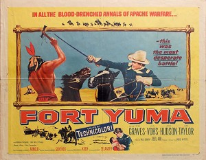Fort Yuma, 1955, Peter Graves, Original Half Sheet,  (22x28)