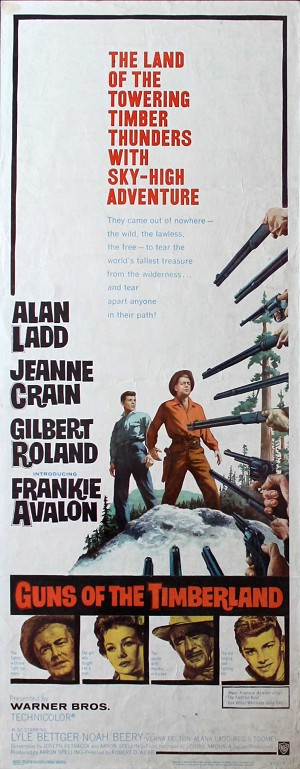 Guns of the Timberland, 1960, Alan Ladd , Original Insert, (14x36