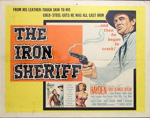 Iron Sheriff, 1957, Sterling Hayden, Original Half Sheet, (22x28)