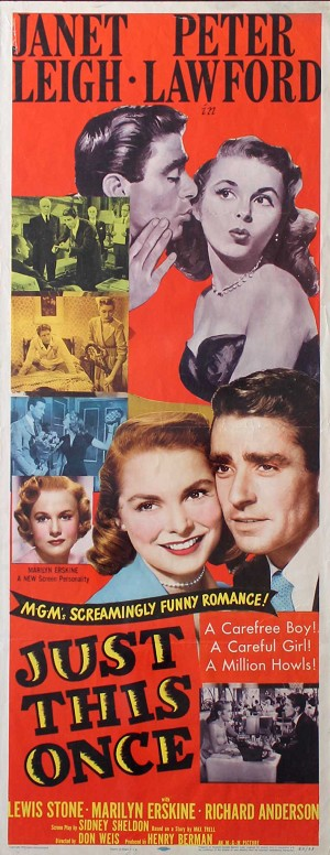 Just This Once, 1952, Janet Leigh, Original Insert (14x36)