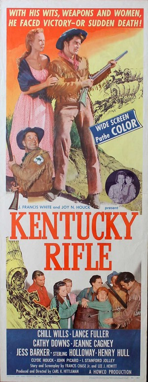 Kentucky Rifle, 1955, Chill Wills, Original Insert, (14x36
