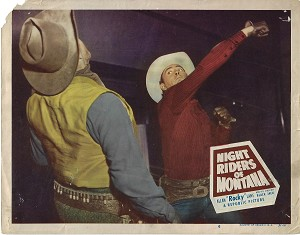 Night Riders of Montana, Original Lobby Card, 1951, 11x14