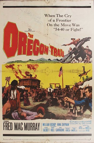 Oregon Trail, 1959, Fred MacMurray, Original 1 Sheet (27x41)
