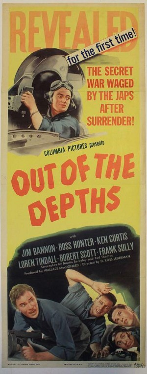 Out of the Depths, (1945) Original Insert (14x36