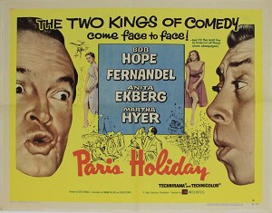 Paris Holiday,1958, Bob Hope, Original Half Sheet (22x28