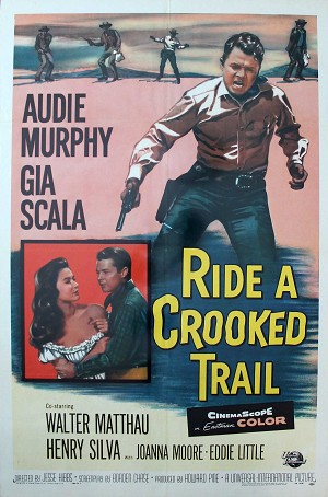 Ride a Crooked Trail, 1958, Audie Murphy, Original 1 Sheet (27x41)
