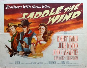 Saddle the Wind, 1957, Robert Taylor, Original Half Sheet, (22x28)