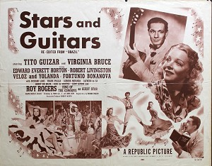 Stars and Guitars, 1951, Tito Guizar, Original Half Sheet, (22x28)