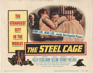 The Steel Cage, 1954, Paul Kelly, Maureen O'Sullivan, Title Card, 11x14