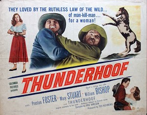 Thunderhoof, 1948, Preston Foster, Original Half Sheet, Style A (22x28)