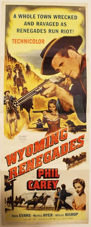 Wyoming Renegades, 1954, Original Insert, (14x36