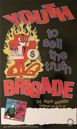 Youth Brigade, Appearance Poster, Circa 1996, 14 x 24, Guaranteed Original!